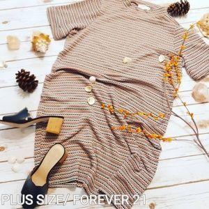 Plus Size Missoni Style Print  Knit Sweater Dress
